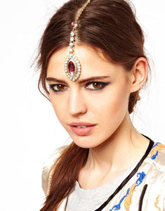 Forehead Gemstone Hairpin Headwear Accessories