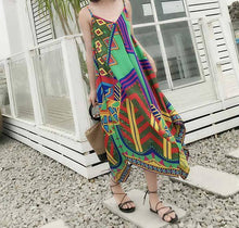 Load image into Gallery viewer, New Printed Spaghetti Strap Beach Summer Dress