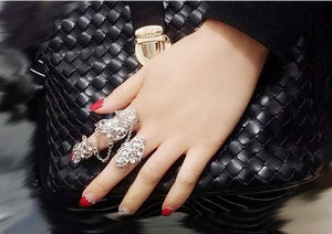 Leaves pattern bohemia style party   suit rings