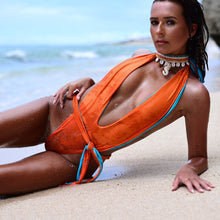 Load image into Gallery viewer, Sexy One-piece Double-sided Solid Color Bandage Personalized Bikinni Swimwear