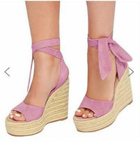 Load image into Gallery viewer, Sexy peep Toe Platform Wedge Woman Summer Rope High Heels Sandals