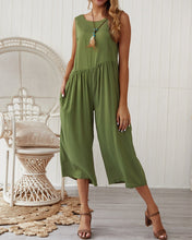 Load image into Gallery viewer, Loose Temperament Solid Color Vest Jumpsuit