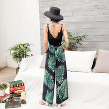 Load image into Gallery viewer, Bohemian Wide-leg Pants High Waist with Floral Pants Seaside Holiday Beach Trousers