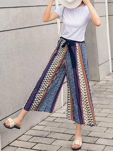 Chiffon Bohemian Wide-leg Pants Seaside Holiday Beach Pants