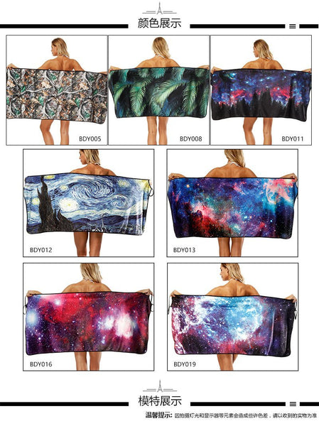 Star print Bath Towel Strap Bath Skirt Quick-drying Large Bathrobe Beach Towel-1