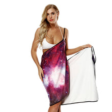 Load image into Gallery viewer, Star print Bath Towel Strap Bath Skirt Quick-drying Large Bathrobe Beach Towel-2