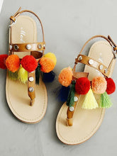 Load image into Gallery viewer, Bohemian Buckle Tassel Flat Sandals