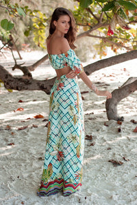 Bohemian Beach Vacation Casual Two-piece Skirt