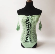 Load image into Gallery viewer, One Shoulder Sexy Hollow Crochet Solid Color One-piece Swimsuit Bikini