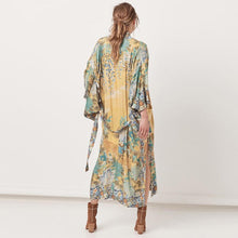 Load image into Gallery viewer, Holiday Print Splicing Lace-up Sleeve Sunscreen Cardigan Cover-up