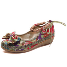 Load image into Gallery viewer, Beaded Ethnic Style Retro Bandage Embroidered Cloth Shoes