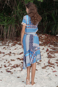 Bohemian Irregular Beach Casual Suit Two-piece Skirt
