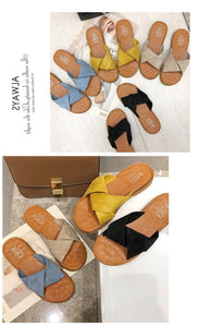 INS Beach Flat Shoes Sandals and Slippers