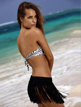Load image into Gallery viewer, Stretch Fringed Ethnic Style Beach Bikini Short Skirt Bottoms