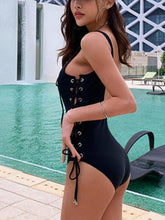 Load image into Gallery viewer, Sexy Strappy Beach One-piece Swimsuit