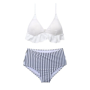 Striped Beach Swimsuit Bikini