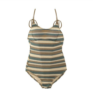 Striped Skinny Beach One-piece Swimsuit