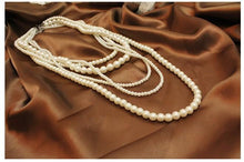 Load image into Gallery viewer, Pearl Necklace Vintage Multi-layer Long Jewelry