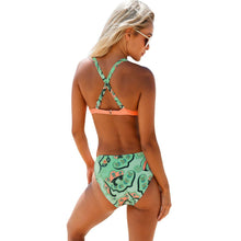 Load image into Gallery viewer, Sexy Bikini Print Sling Women's Swimsuit Split Two-Piece Set