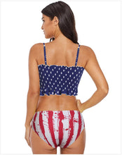 Load image into Gallery viewer, High Waist Covered Belly Slim Printed Bikini