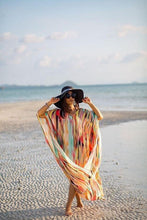 Load image into Gallery viewer, Chiffon Blouse Vacation Beach Long Dress