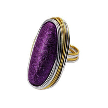 Load image into Gallery viewer, Gemstone ring Fashion women's dinner with dress accessories closed ring