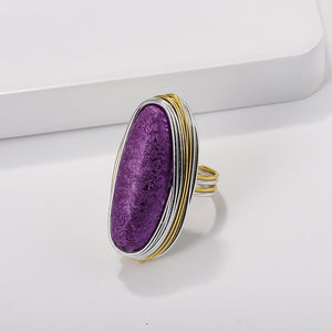 Gemstone ring Fashion women's dinner with dress accessories closed ring