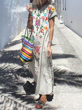 Load image into Gallery viewer, Bohemian Tassel Printed Dress Long Dress