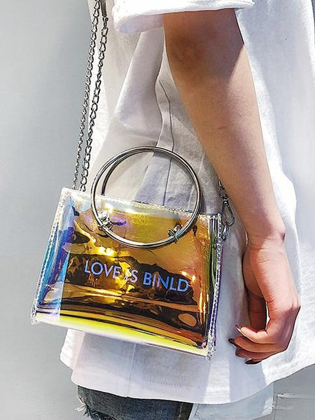 Transparent Chain Messenger Bag