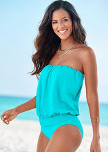 Load image into Gallery viewer, Off Shoulder Plain One Piece Swimwear