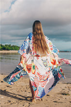 Load image into Gallery viewer, Printed loose beach skirt sunscreen holiday dress