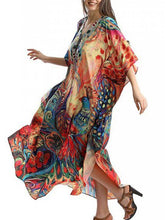 Load image into Gallery viewer, Peacock Print Beach Skirt Holiday Skirt