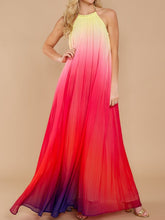 Load image into Gallery viewer, Halter Backless Beach Boho New Maxi Dress