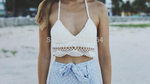 Load image into Gallery viewer, Handmade Knit Bikini Solid Color Sling Top