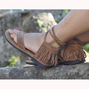 Flat Heel Tassel Beach Summer Sandals