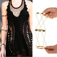 Load image into Gallery viewer, Retro exaggerated three-ring chain arm chain bracelet bracelet jewelry