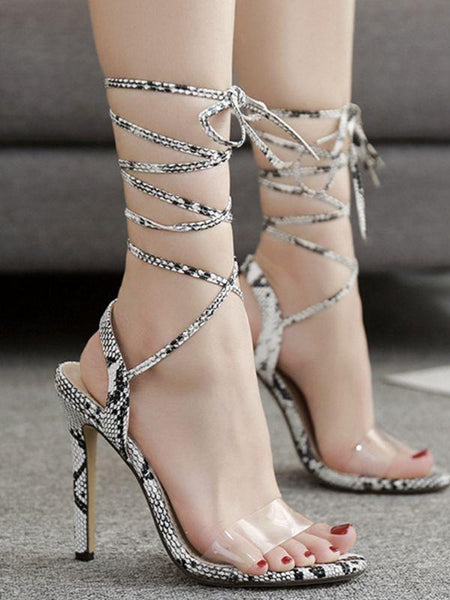 Spring Sexy High Heel Stiletto Cross Strap Sandals Shoes