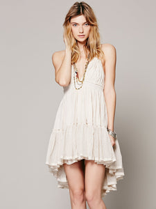 Sexy beach short dress holiday halter dress