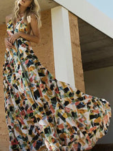Load image into Gallery viewer, Print Backless Beach Bohemia Maxi Dress