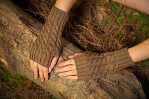 Half refers to the warm knit typing women s thick wool Half palm gloves - 1