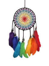 Load image into Gallery viewer, Boho Dream Catchers Handmade Colorful Feathers Wall Decoration