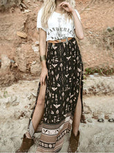 Load image into Gallery viewer, Boho Side Split Beach Bust Skirt
