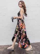 Load image into Gallery viewer, Spagetti Neckline Maxi Floral Beach Bohemia Dress