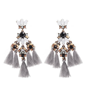1 pair tassel earring make statement fashion fringed Bohemia jewelry for party