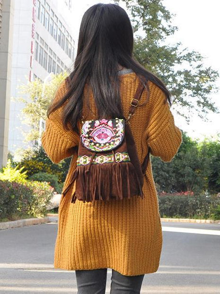 National Style Embroidered Personality Shoulder Bag