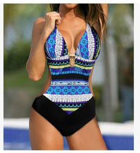 Load image into Gallery viewer, Bohemian Floral Beach Sexy One piece Swimsuit Bikini
