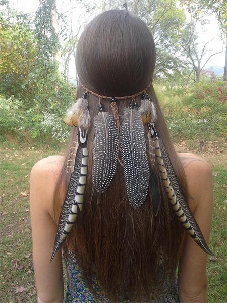 Boho Peacock Feathers Headwear Accessories