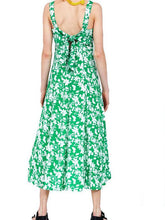 Load image into Gallery viewer, SPAGHETTI STRAPS FLORAL BOW LONG DRESS
