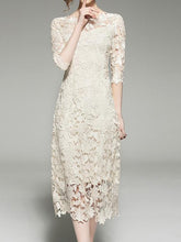 Load image into Gallery viewer, Vintage 2018 Lace Hollow Splice Dress
