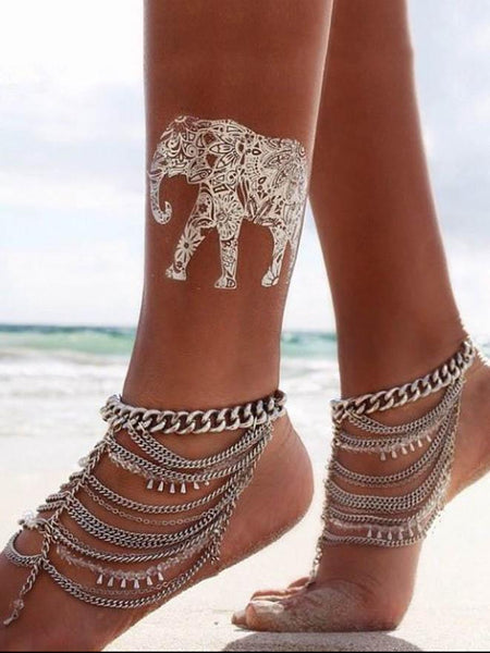 Fashion Bohemia Tassels Footchain Accessories Anklet